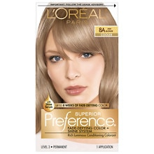L'Oreal Paris Preference Permanent Hair Color Ash Blonde 8A