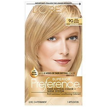 Permanent Hair Color, Light Golden Blonde 9G