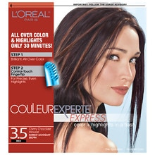 L'Oreal Paris Couleur Experte Express Easy 2-in-1 Color + Highlights Darkest Mahogany Brown Chocolate Mousse 3.5