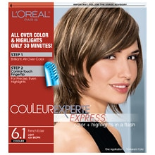 Express Two-In-One Multi-Tonal Color System Hair Color, Light Ash Brown French Eclair 6.1