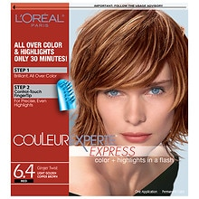 L'Oreal Paris Couleur Experte Express Two-In-One Multi-Tonal Color System Light Golden Copper Brown Ginger Twist 6.4
