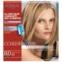 Express Two-In-One Multi-Tonal Color System, Medium Blonde Toasted Coconut 8