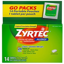 Zyrtec Allergy Tablets, 24 Hour 10 mg