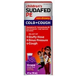 Sudafed PE PE Children's Cold & Cough Liquid Grape Flavor