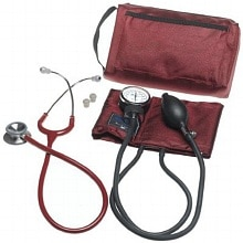 Mabis MatchMates Combination Kit with a 3M Littmann Classic II S.E. Stethoscope Burgundy
