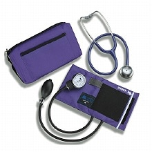 Mabis MatchMates Combination Kit with a 3M Littmann Classic II S.E. Stethoscope Purple