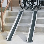 5 Foot Telescoping Adjustable Wheelchair Ramp