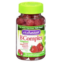 Vitafusion B Complex Energy, Adult Vitamins, Gummies Wild Strawberry