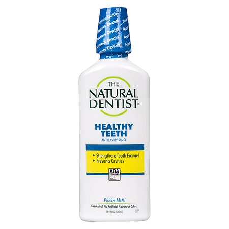 The Natural Dentist Healthy Teeth Anti-Cavity Fluoride Rinse Fresh Mint - 16.9 fl oz
