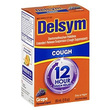12 Hour Cough Suppressant Liquid Grape Flavored Liquid
