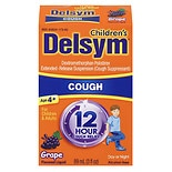 Delsym Children's Cough Suppressant, 12 Hour Grape Flavored Liquid