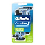 Gillette CustomPlus 3 Disposable Razors Sensitive