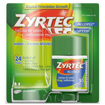 Zyrtec Allergy 24 Hour 10mg Tablets
