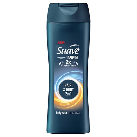 Suave for Men Body Wash, Hair + Body 2-in-1