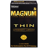 Trojan Magnum Thin Large Size Lubricated Premium Latex Condoms