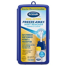 Dual Action Freeze Away Common and Plantar Wart Remover for Large Warts