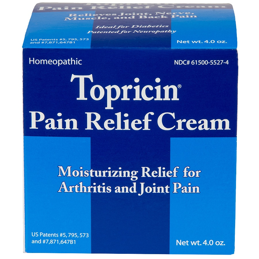 Topricin anti inflammatory pain relief cream