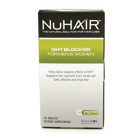 NuHair DHT Blocker Dietary Supplement Tablets for Men & Women