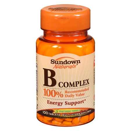 Sundown Naturals B Complex Multivitamin Supplement Tablets