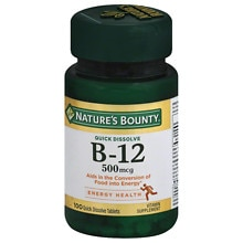 Nature's Bounty B-12 500mcg Microlozenges Cherry