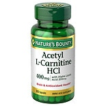 Nature's Bounty Acetyl L-Carnitine 400 mg with Alpha Lipoic Acid Dietary Supplement Capsules
