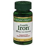 Nature's Bounty Gentle Iron 28 mg Dietary Supplement Capsules Capsules