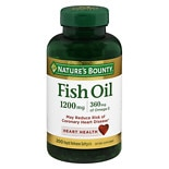 Nature's Bounty Fish Oil 1200 mg Dietary Supplement Rapid Release Liquid Softgels