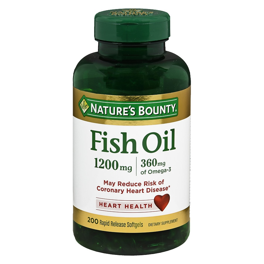 Nature 39 s bounty fish oil 1200 mg dietary supplement rapid for Nature s bounty fish oil