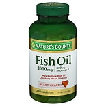 Odorless Fish Oil 1000 mg Dietary Supplement Softgels