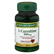 Nature's Bounty L-Carnitine 500 mg Dietary Supplement Tablets