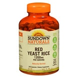 Sundown Naturals Red Yeast Rice 1200 mg Dietary Supplement Capsules Capsules