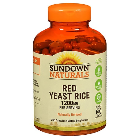 Sundown Naturals Red Yeast Rice 1200 mg Dietary Supplement Capsules