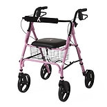 Medline Breast Cancer Awareness 4-Wheeled Walker MDS86825BC