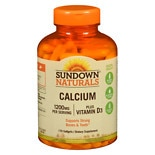 Sundown Naturals Calcium plus Vitamin D3, 1200mg, Softgels