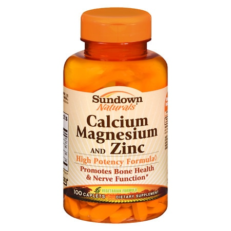 Sundown Naturals Calcium, Magnesium and Zinc, Caplets