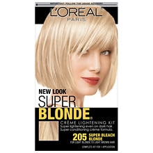 L'Oreal Paris SFX Super Blonde Creme Hair Lightening Kit Super Bleach Blonde 205