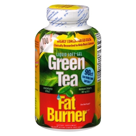 Applied Nutrition Green Tea Fat Burner, Liquid Soft-Gels ...