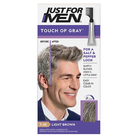 Just For Men Touch of Gray Hair Treatment Light Brown - Gray T-25