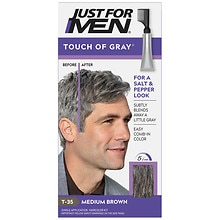 Just For Men Touch of Gray Hair Treatment Medium Brown - Gray T35