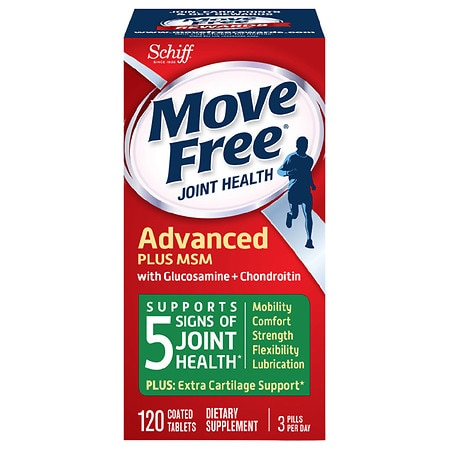Schiff Move Free Bone & Joint Supplement, Glucosamine Chondroitin + MSM, Tablets
