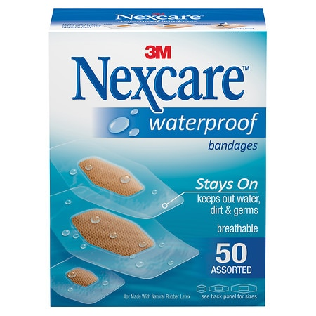 Nexcare Waterproof Clear Bandage, Assorted Sizes