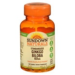 Sundown Naturals Ginkgo Biloba Plus 60 mg Per Serving Dietary Supplement Tablets