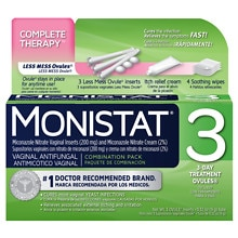 Monistat 3 Vaginal Antifungal Combination Pack