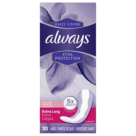 Always Xtra Protection Daily Liners, Extra Long Fresh Scent