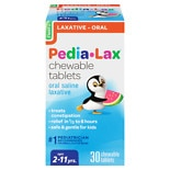 Fleet Children's Pedia-Lax Saline Laxative Chewable Tablets Watermelon Watermelon Flavor, Chewable Tablets