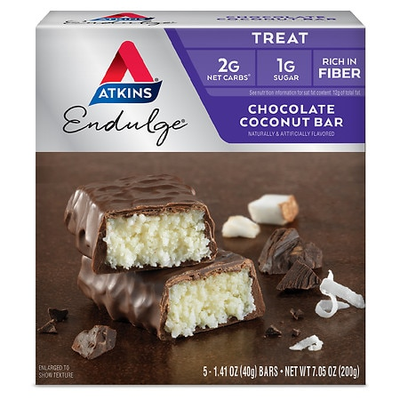 Atkins Endulge Nutrition Bars Chocolate Coconut, 5 pk