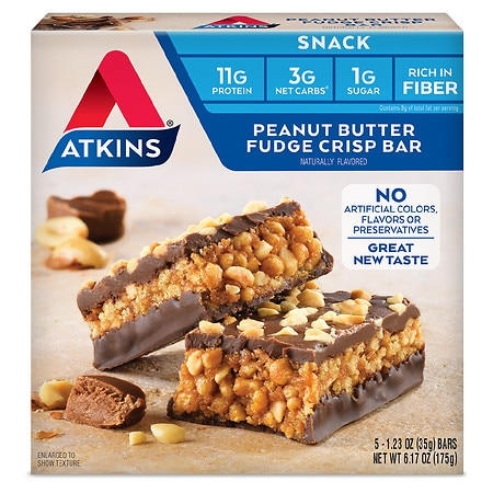 Atkins Day Break Snack Bars Peanut Butter Fudge, 5 pk