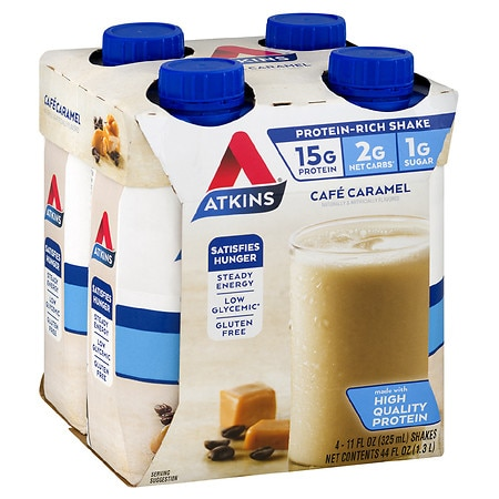 Atkins Advantage Shakes Cafe Caramel,4 pk