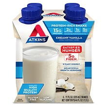 Atkins Advantage Shakes 4 Pack French Vanilla