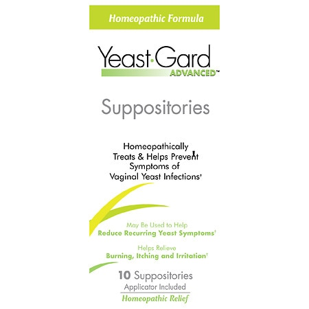 YeastGard Homeopathic Suppositories Treatment with Probiotics